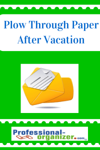 organize paper after vacation
