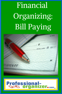 financial organizing bill paying