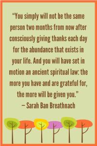 Gratitude Sarah Ban Breathnach