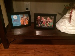 Christmas cards framed