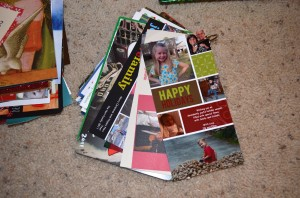 organize Christmas cards