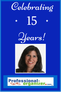 Ellen Delap celebrating 15 years of professiona organizing and productivity consulting