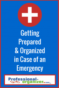 organizing in case of emergency
