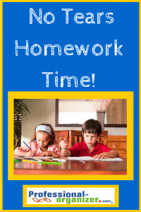 back to school homework time