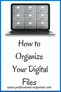 organize digital files