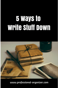 write it down productivity