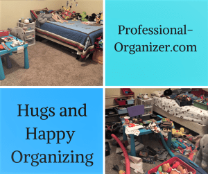 hugs and happy organizing boy's room