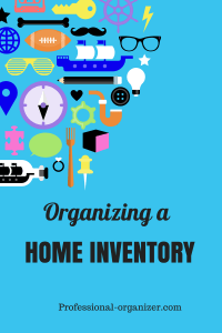 Organizing a home inventory