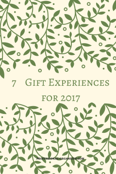 7 gift experiences for 2017