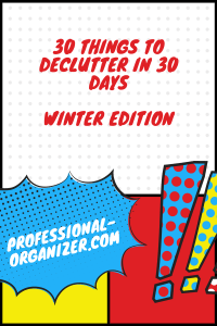 30 things to declutter in winter