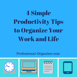 4 simple productivity tips