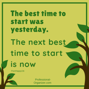 best time to start was yesterday next best time is now