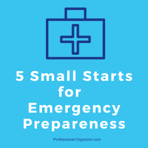 small ways to prepare for an emergency