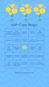 self care bingo