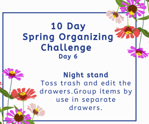 organizing challenge night stand