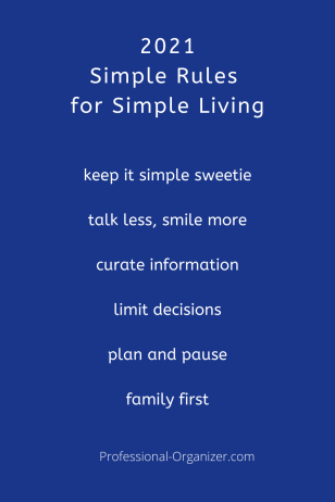 2021 simple rules for simple living