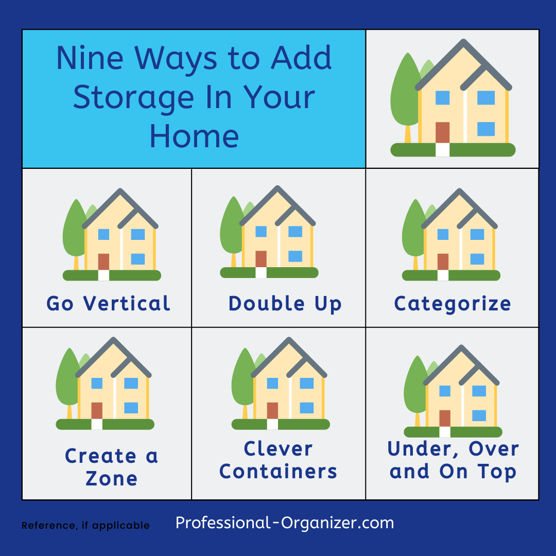 9 ways to add storage in your home