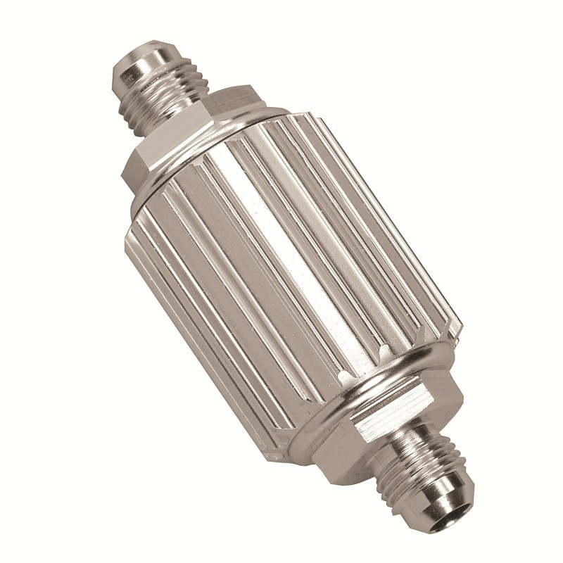 Inline Fuel Filter Polished 6an