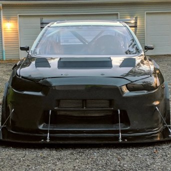 Mitsubishi Evo X with Professional Awesome Racing Splitter Supports 3
