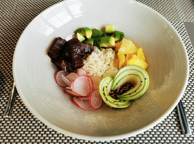 poke bowl con ventresca di tonno - ricetta tognana professional - roberto balgisi