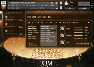 Orchestral Percussion X3M Interface