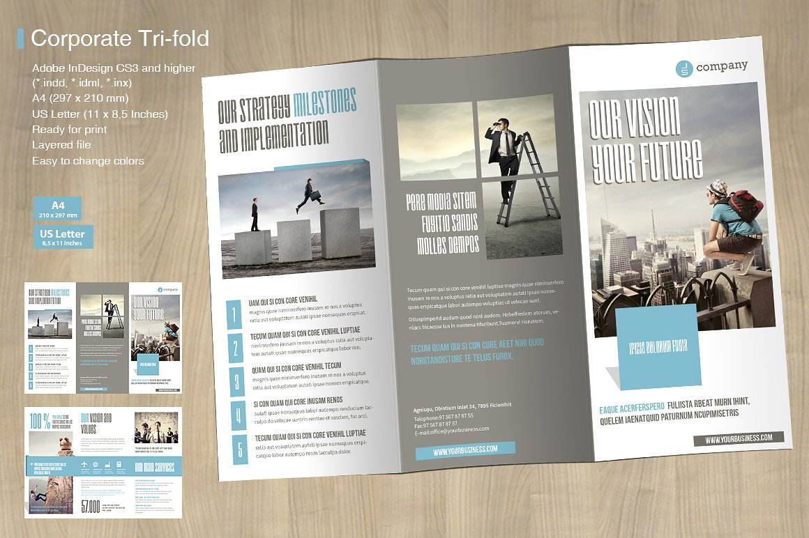 TriFold Corporate Vol   Mrtemplater Print Templates