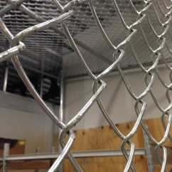 Chain Link Cage With A Roof