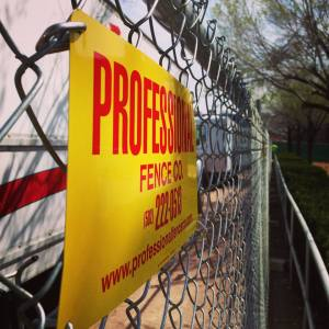 Temporary Fence Panels Signs
