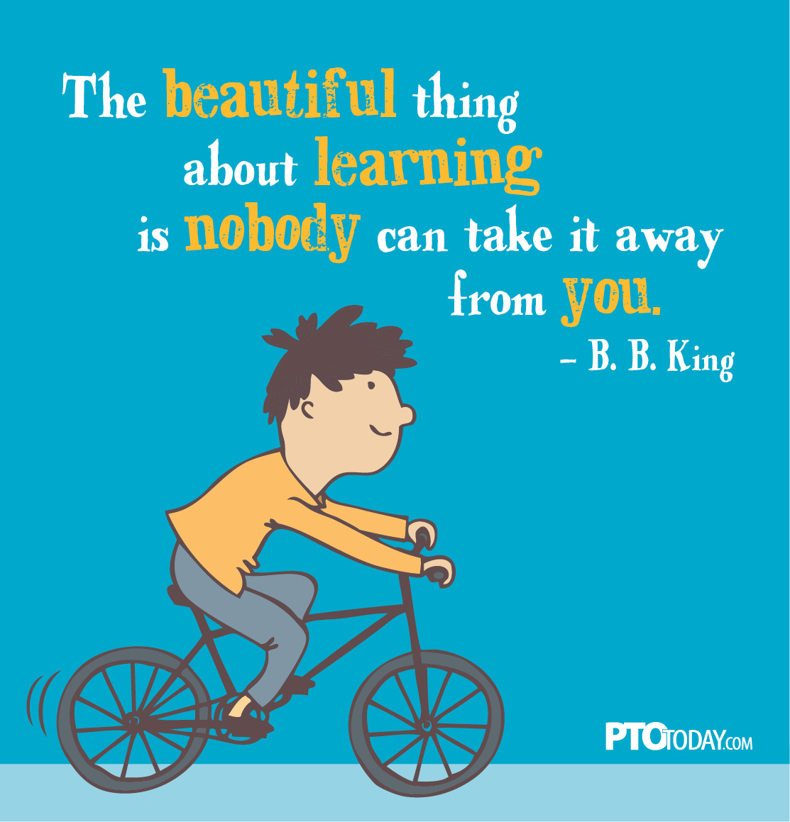 The beautiful thing about learning