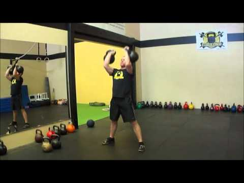 Double 40kg Kettlebell Snatch x 4 reps