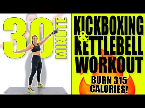 30 Minute Kickboxing and Kettlebell Workout 🔥Burn 315 Calories!🔥
