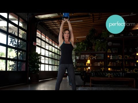 Kettlebell and Burpee Combo Workout | Finest Effect With Ashley Borden