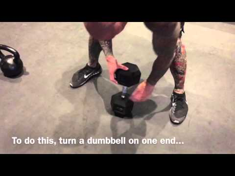 How To Bag Kettlebell Swing With Dumbbell