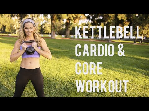 30 Minute Kettlebell Cardio Core Workout–Blast Elephantine and Sculpt Abs