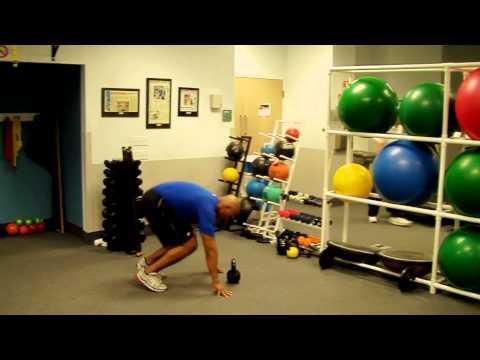 Kettlebell Swing Burpee Exercise