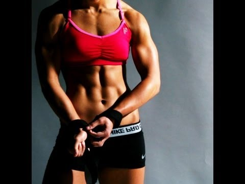 Burpees & Kettlebell weight reduction swing maxfit crossfit lady workout abs