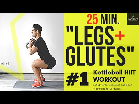 """Legs and Glutes """"TORTURE"""" Exercise   Kettlebell HIIT WORKOUT"""