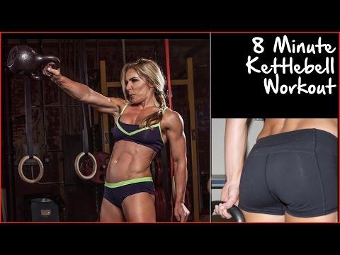 8 Minute Kettlebell Workout   Kettlebell Workout routines   Sarah Grace Fitness