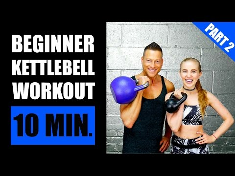 10 MINUTE KETTLEBELL WORKOUT FOR BEGINNERS (PART 2) | Fat Burning Newbie Kettlebell Exercise