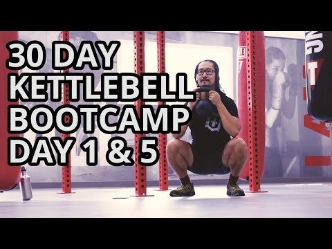 Kettlebell Residence Workout Bootcamp Day 1 for Muscle Growth and Rotund Loss | Squats, Pushups, Pullups
