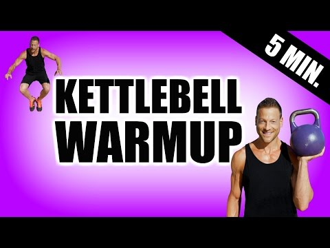 5 MINUTE WARM UP KETTLEBELL WORKOUT | Dynamic Heat Up Before Your Kettlebell Exercise, HIIT, Weights