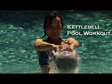 Salubrious Energy Workout with Kettlebell within the Pool