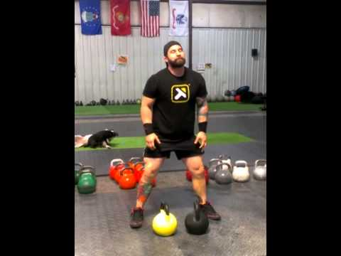 Evolved Kettlebell Coaching  : HIIT Double Cleans and Overhead Squats