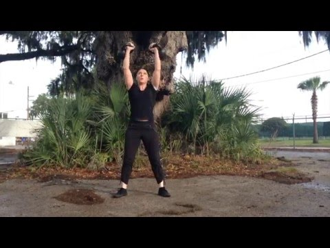 Enjoyable Double Kettlebell Combo from Outrageous Kettlebell Cardio Workout 3