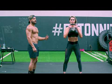 Jena Mays Deadlift, Trim, Squat Kettlebell Waft at Onnit Gymnasium