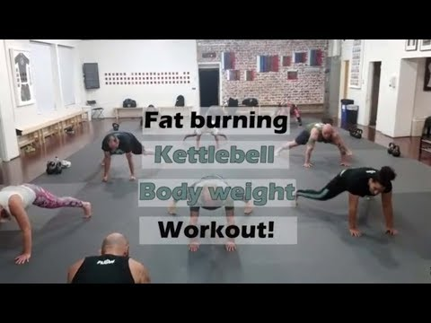Kettlebell and Physique weight workout for tubby loss
