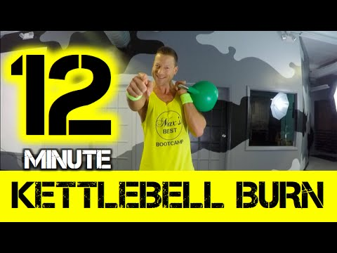 12 Minute Killer Kettlebell Workout | Intense Kettlebell HIIT Corpulent Body Workout