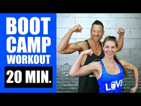 20 MINUTE BOOTCAMP WORKOUT WITH KETTLEBELL, CARDIO, ABS | Corpulent Burning Boot Camp Insist Routine 2
