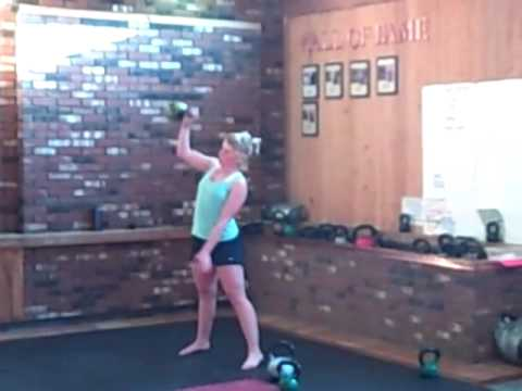Vermont Kettlebell Weight Loss Bootcamp Workout: working on heavy snatches