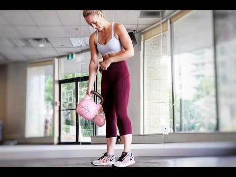 12 minute HIIT // Greater Body Workout Using KETTLEBELLS